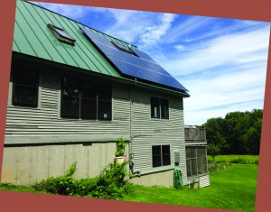 Solar PV installation of 3.8 kW in Tinmouth, VT. Installed by Power Guru, LLC. of North Bennington, VT