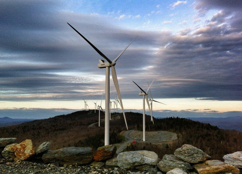 Kingston Community Wind, photo courtesy of Green Mountain Power