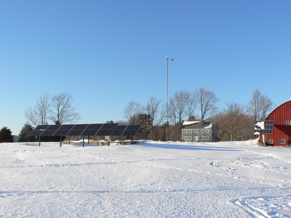 Wind, Solar PV & Solar Hot Water at the North Family Maple Farm