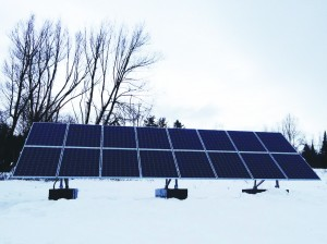 4.5 kW grid-tied PV system in Craftsbury, installed in December.