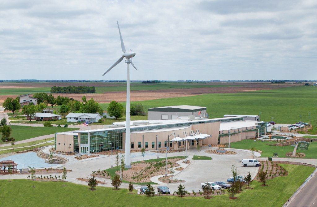Greensburg Hospital wind turbine. Photo courtesy of the City of Greensburg.
