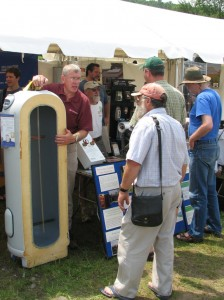 USA Solar Stores booth, showcasing the super-insulated water tanks.