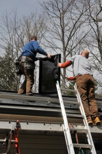 Granite State Solar's team installing a 7.35 kW PV Solar System in Sutton NH.