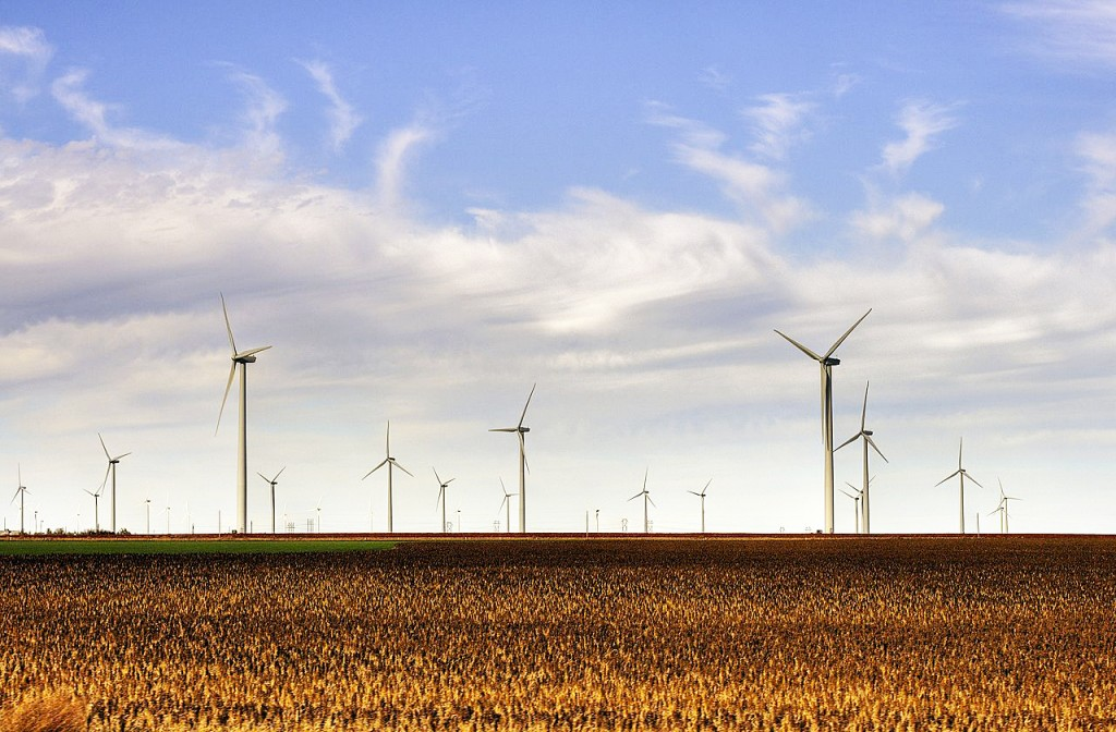 The Smoky Hills wind farm in Kansas. Photo by Drenaline