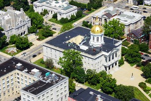 New Hampshire's State House where NH's ten year energy strategy will be decided! Photo courtesy of NH Sustainable Energy Association.