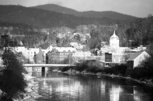 Montpelier, Vermont will be the nation's first net-zero capital in the nation, hwere all energy used for heat, electricity, and transportation is produced or offset by renewable sources. Photo: Flickr VTcity-charlieontheradio