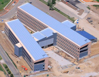 DOE's National Renewable Energy Laboratory's office Building in Golden, CO is the nation's largest zero energy office building. It will generate as much energy as it uses.