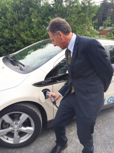 Governor Shumlin charges up.