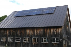 A 5.0 kW solar PV system on a barn in Cornish, NH
