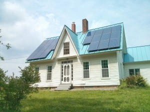 5.5 kW PV system on a house in Cornish, NH.