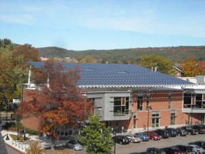 A 127.7 kW solar PV system on Keene State College's TDS Center Building (Keene, NH)