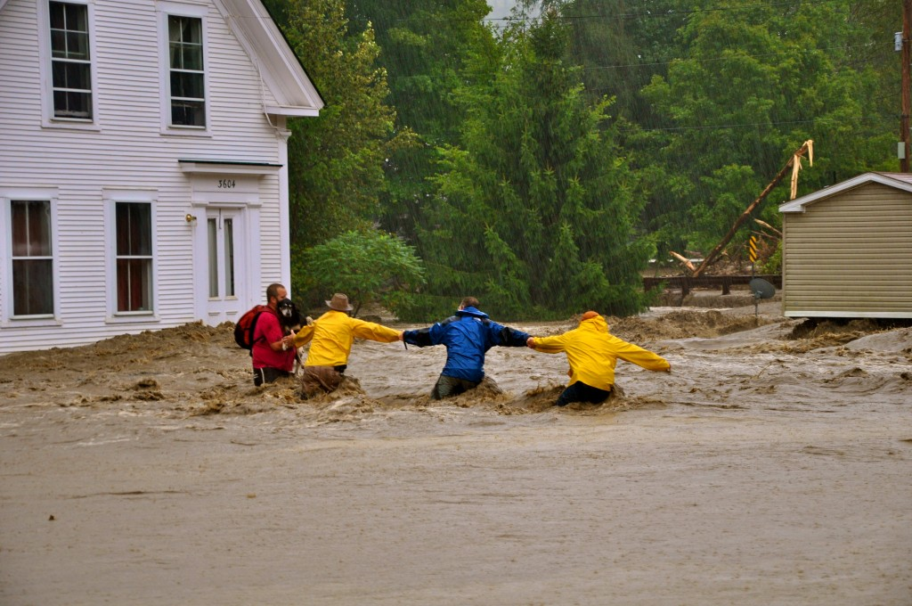 Future storms similar to Irene are inevitable. We must take bold steps, like the carbon pollution tax, to help to slow climate change. This photo was taken in Pittsfield, Vt., during Hurricane Irene. Photo: Barb Wood