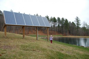 Solar array to power O'Meara's woodworking shop