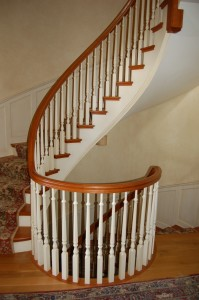Staircase built by Phil Byfield of Massasecum Woodworks