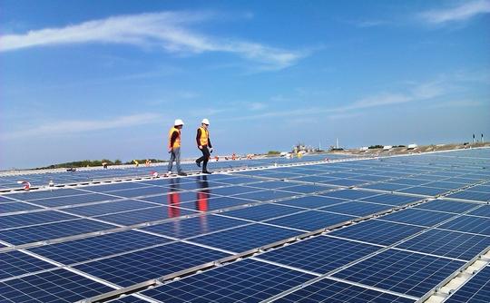 British rooftop solar array.