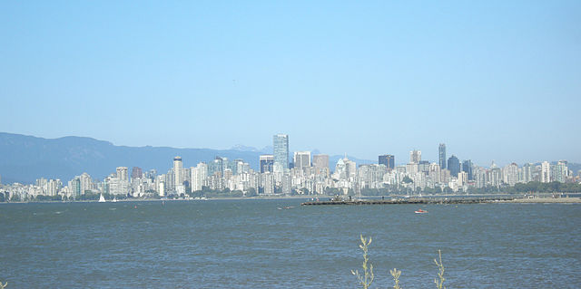 Downtown Vancouver. Photo by Connormah, via Wikimedia Commons.