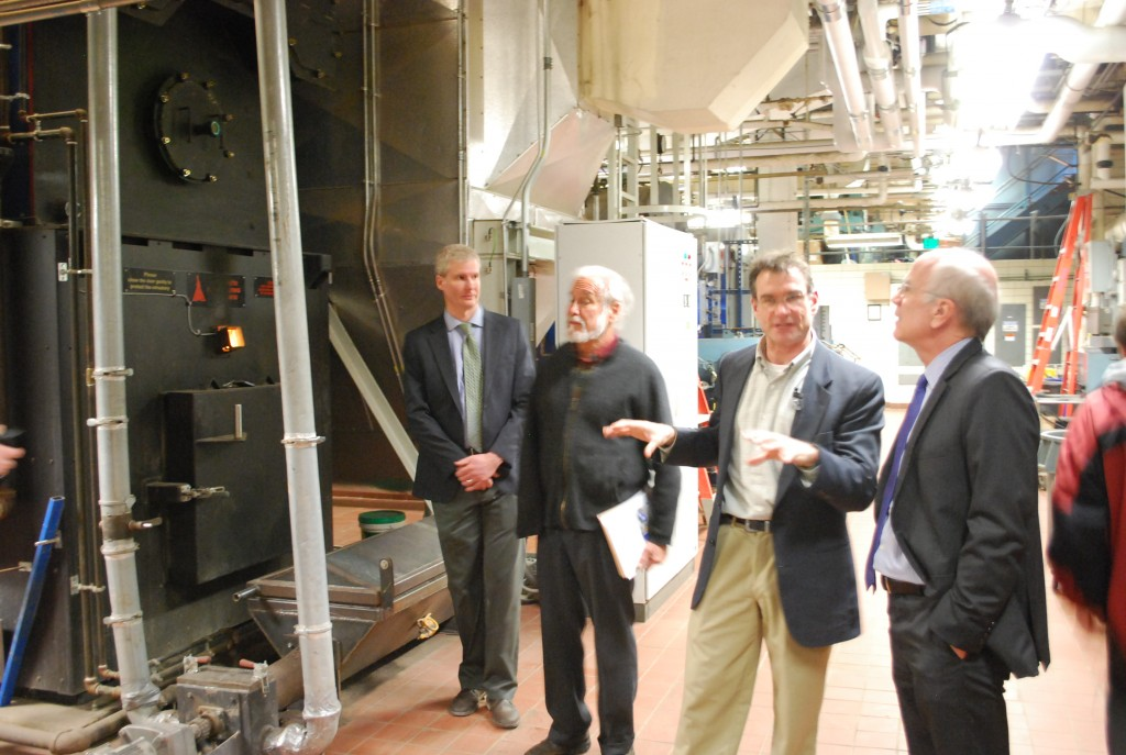 """""""Peter was at National Life in Montpelier to announce the Biomass Thermal Utilization Act that would make it more affordable for Vermonters to install wood heating systems in their homes or businesses. National Life cut their heating bill in half using a modern wood heating system."""""""