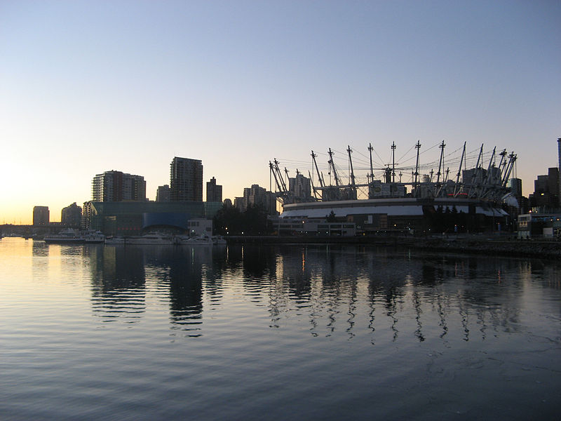 Vancouver downtown, winter sunset. Photo by Pmagn. Wikimedia Commons.