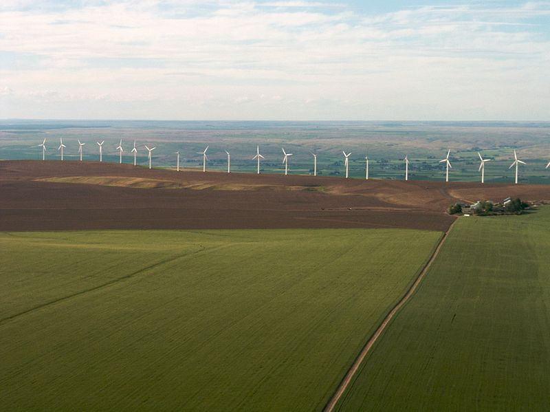 Stateline Wind Project, Eastern Oregon or Washington. Photo by Sam Beebe. Wikimedia Commons