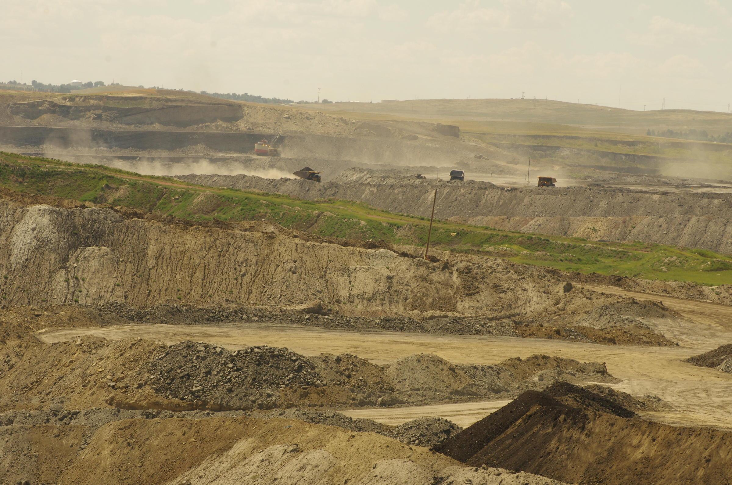 Open pit coal mine. Credit Stephanie Joyce