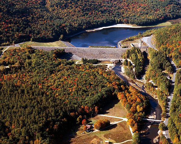 Townshend Lake and Dam. US Army Corps of Engineers photo.