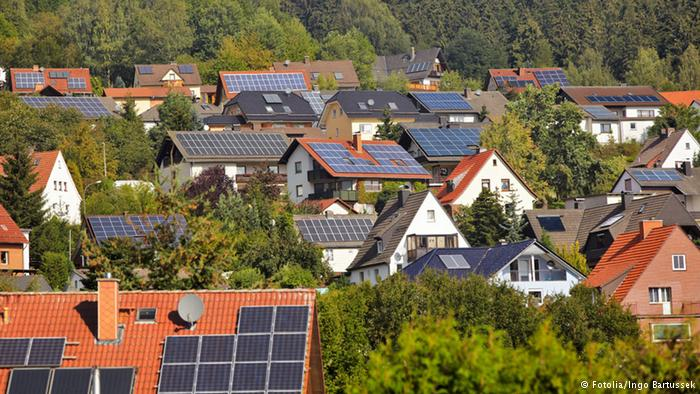 German rooftop solar power.