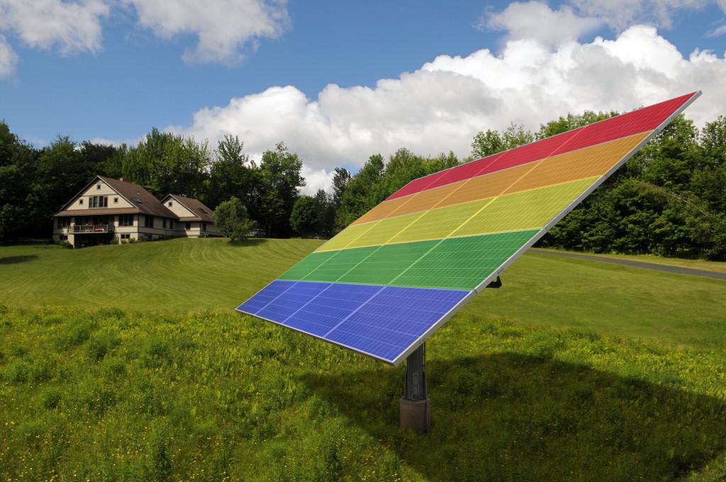 Rainbow solar tracker image