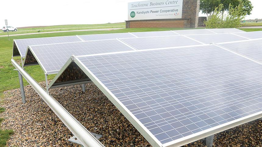 Kandiyohi Power Cooperative solar garden in Minnesota. Photo by Rand Middleton / Tribune.