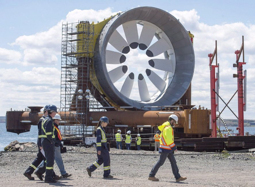 A turbine being built for the Cape Sharp Tidal project. Andrew Vaughan / The Canadian Press.