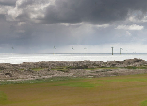 Rendering of the project, which Donald Trump opposed, saying it would ruin the view from his golf course. (Vattenfall image)