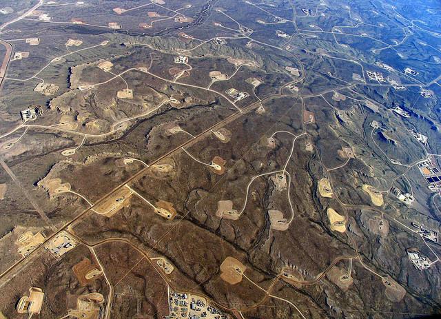 Fracking field (Image via Simon Fraser University)