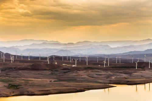 Wind turbines in northwestern Iran (Shutterstock image)