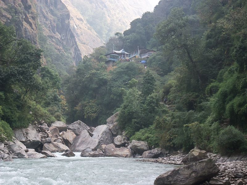 River in Nepal (Anil Simkhada, Wikimedia Commons)
