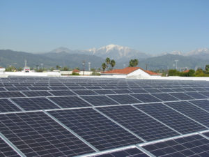 Many major retailers are making renewable energy efforts, not only for the good for the environment, but because they make good business sense. Photo courtesy of WalmartStores.com.