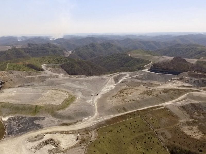 Mountaintop removal site near Pikeville (Kenny Stanley   Berkeley Energy Group via AP)
